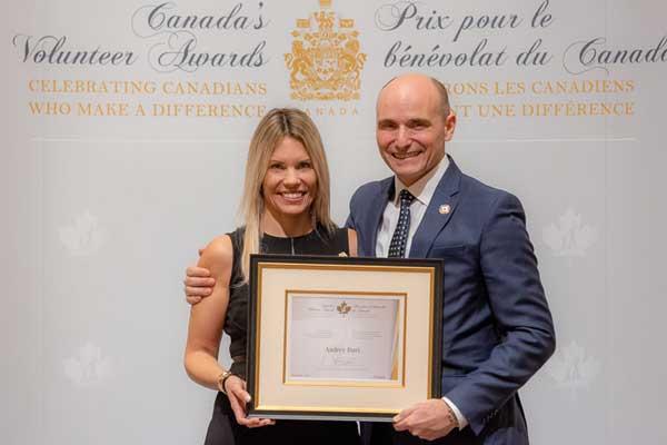 Audrey Burt: Lauréate du Prix pour le bénévolat du Canada 2018